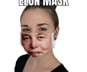 Elon Mask – Elon Musk face mask