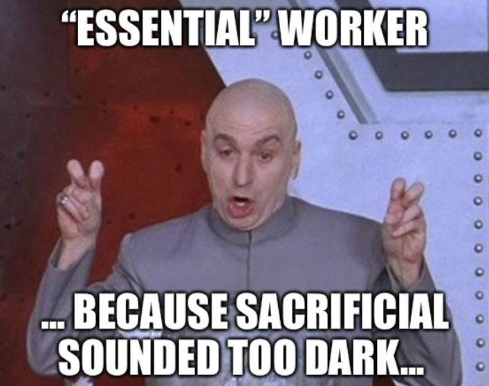 essential worker meme