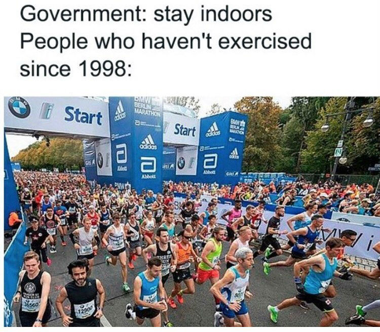 government stay indoors