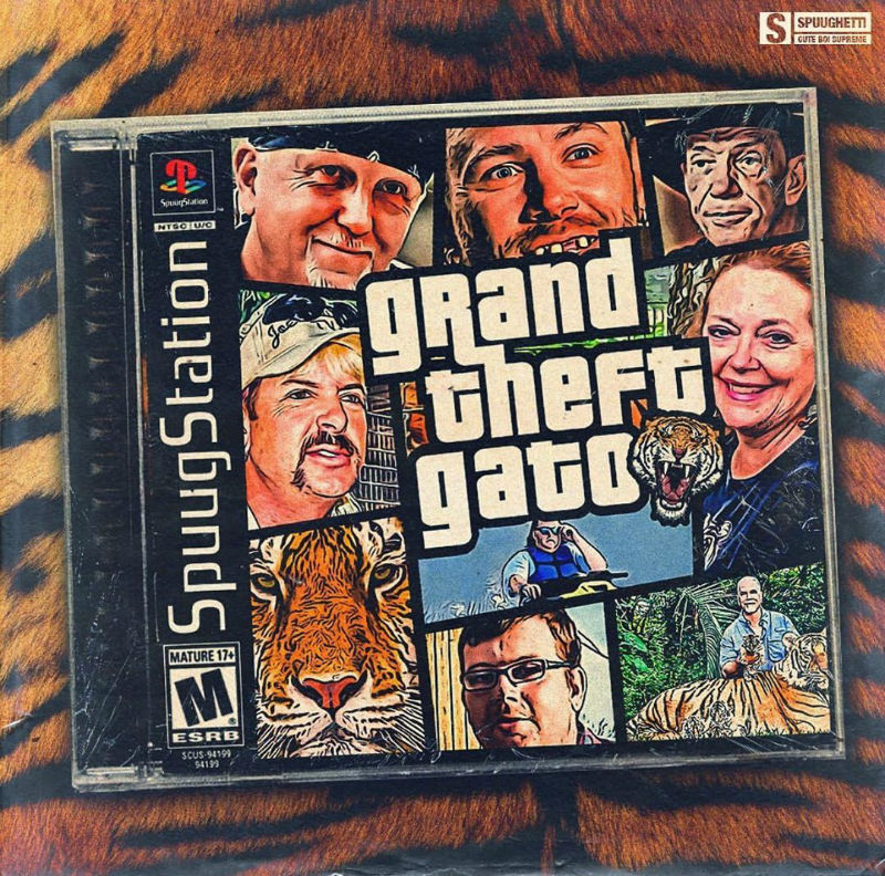 grand theft gato tiger king meme