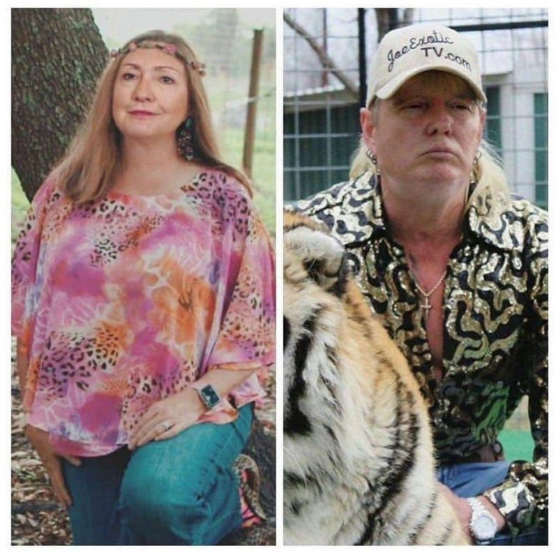 hillary clinton carole baskin donald trump joe exotic