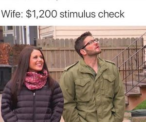 House Hunters Stimulus Check edition meme