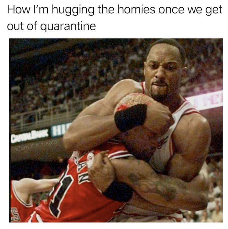 how im hugging the homie