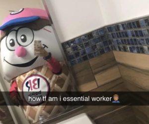 How TF Am I Essential Employee Baskin Robbins Ice Cream Mascot
