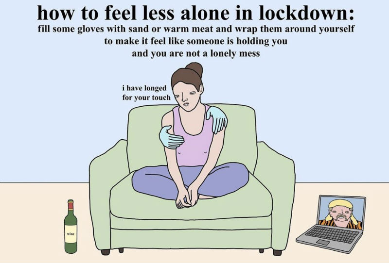 how to feel less alone during lockdown