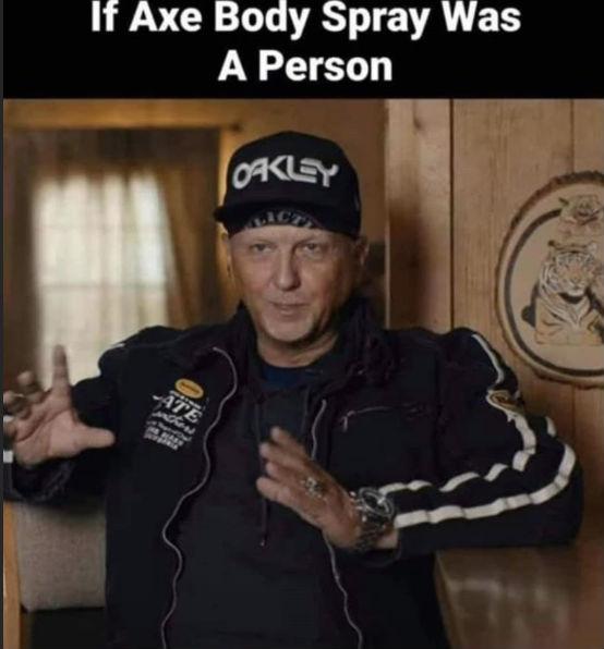 if axe body spray was a person