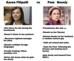 Karen Filipelli Vs Pam Beesly – The Office Meme