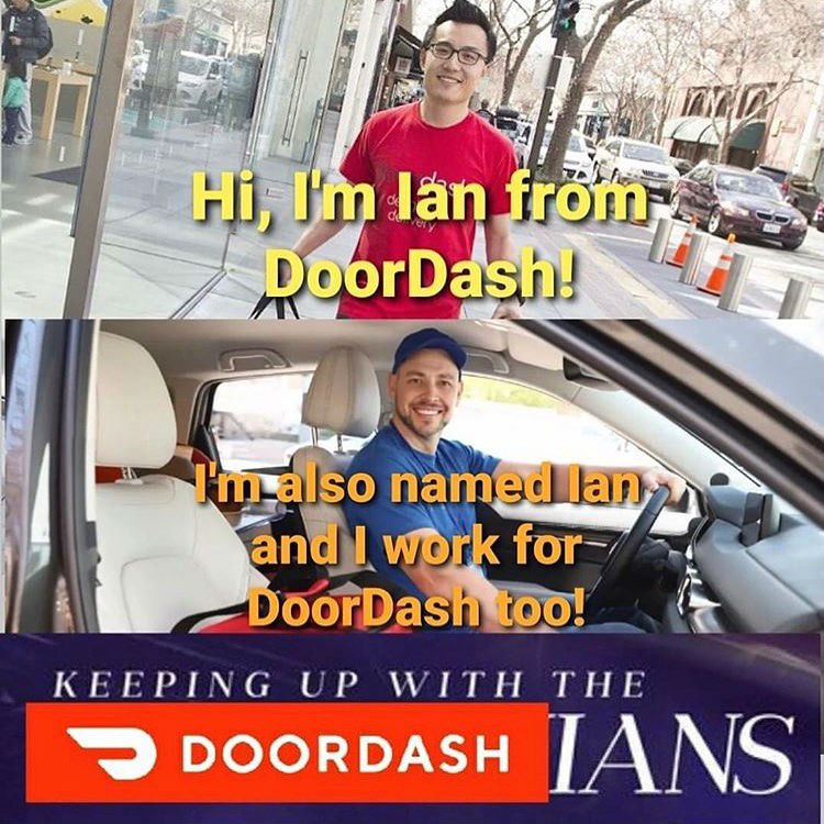 keeping up with the doordashians meme