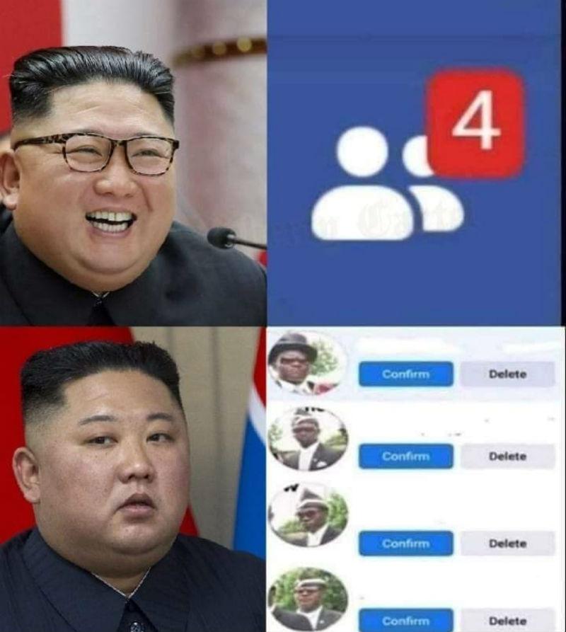 kim jong un coffin guys friend request