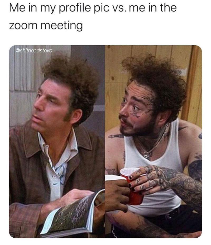 me in my profile pic vs zoom