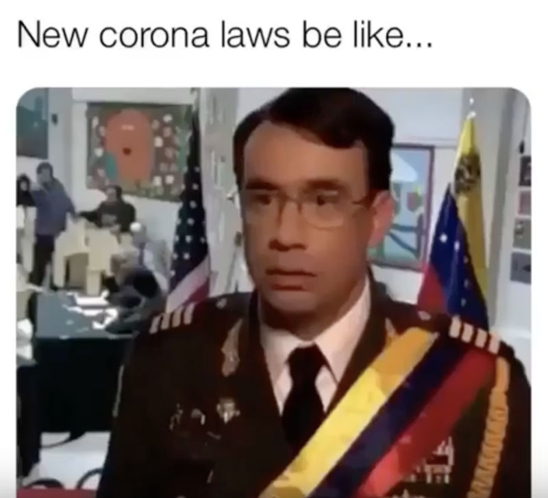 new corona laws be like meme