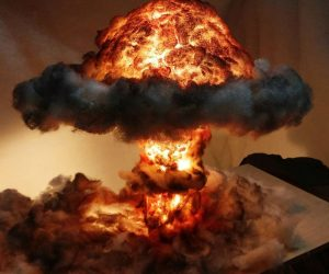 Nuclear Explosion Mushroom Cloud Lamp – This explosive lamp will really radiate the room!