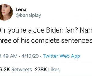 Oh You're A Joe Biden Fan Name Three Of His Complete Sentences – Meme