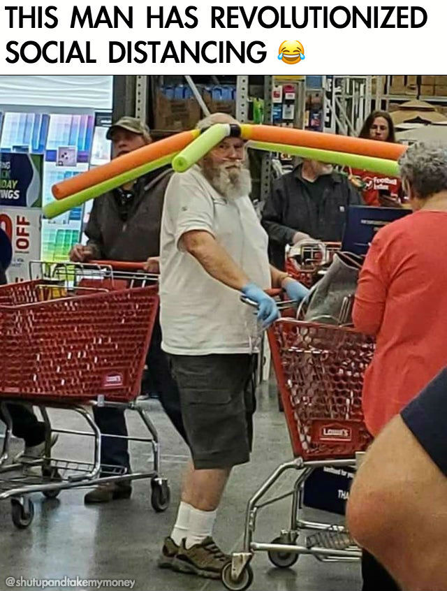pool noodle hat guy