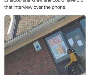 Social Distancing Job Interview meme