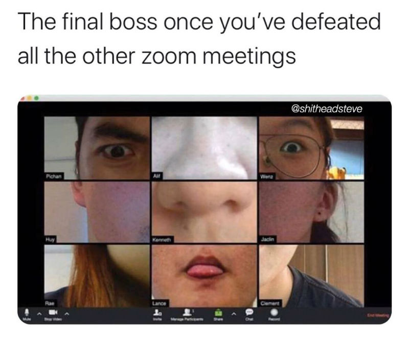 the final boss once youve defeated all the other zoom meetings meme