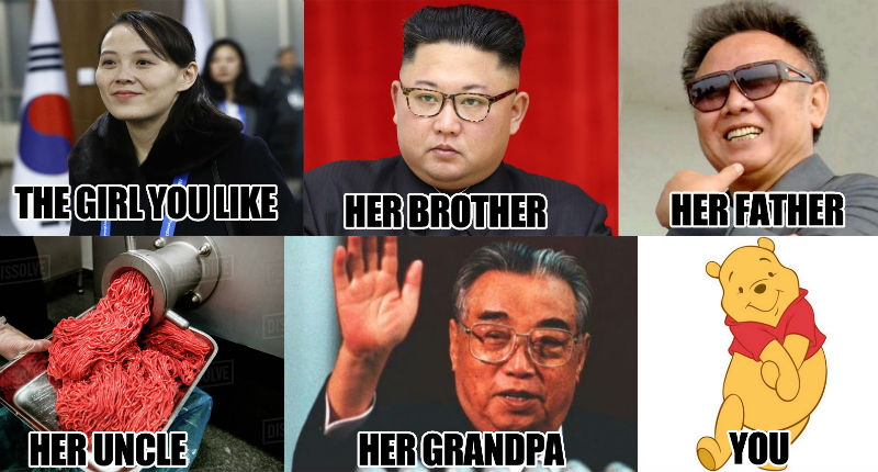 the girl you like kim yo jong meme