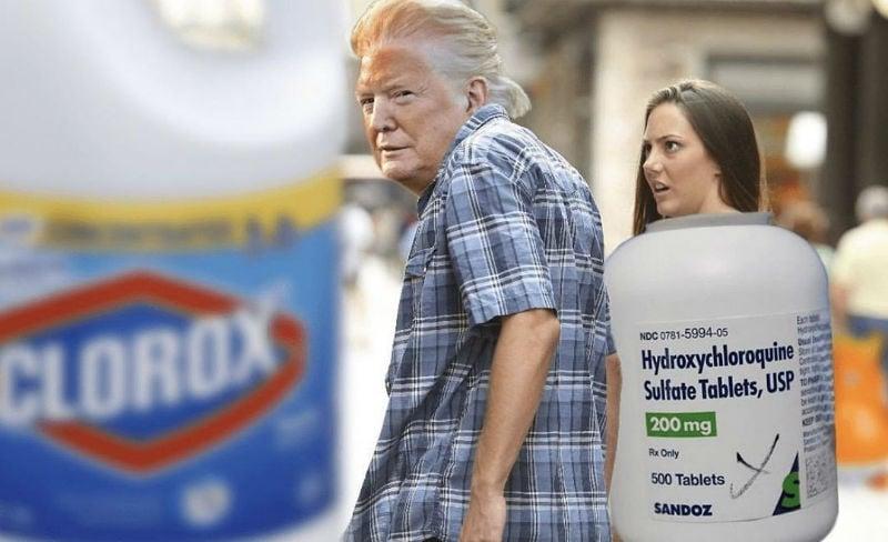 trump clorox memes
