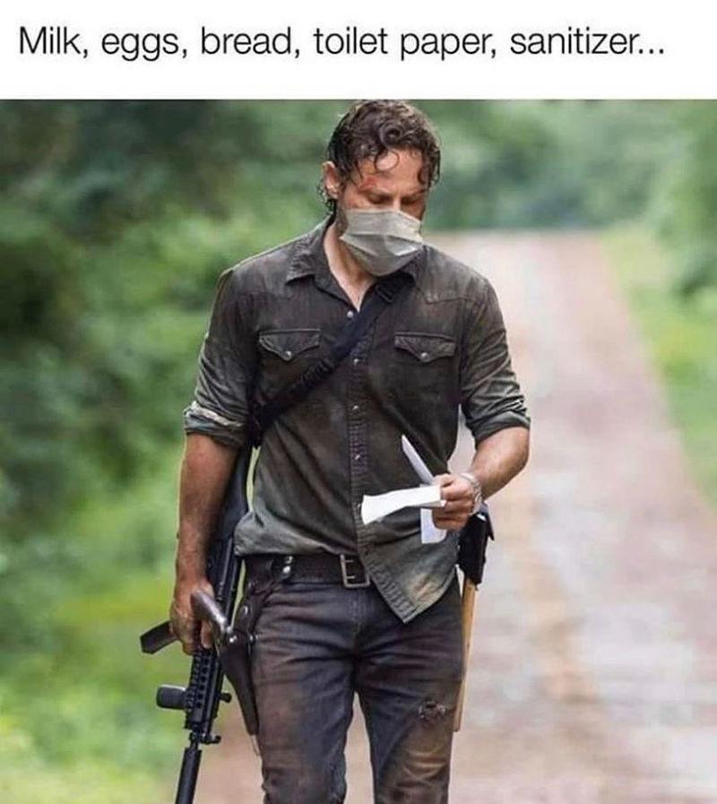 Walking Dead Going To The Store Corona Virus Meme Shut Up And
