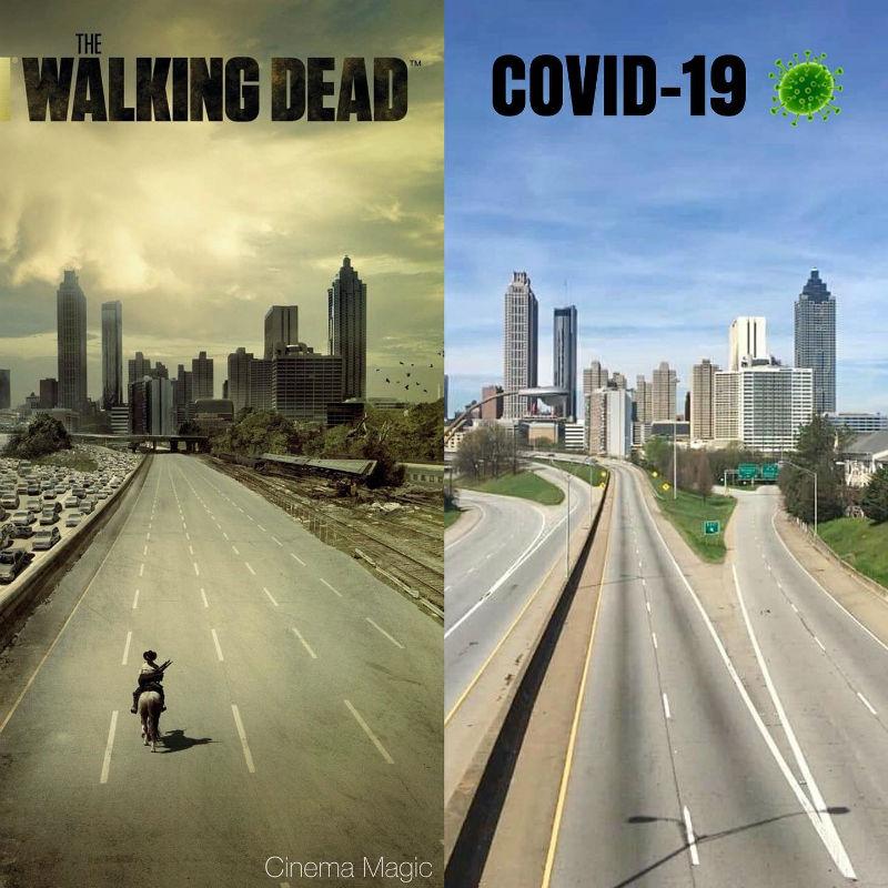 walking dead vs covid 19