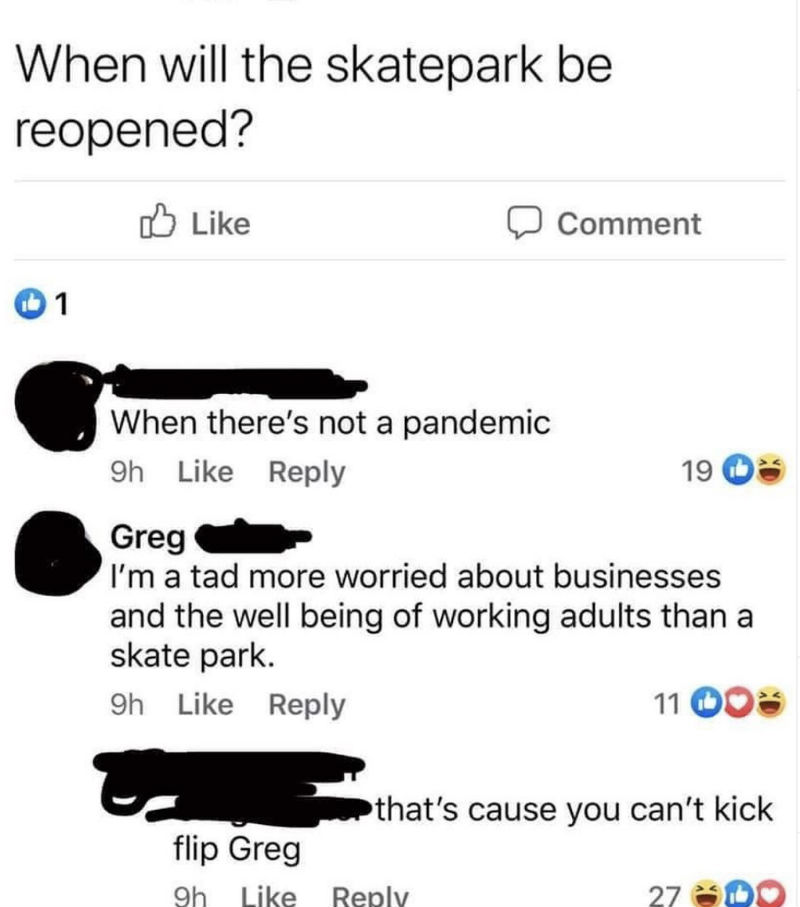 when will the skatepark be reopened