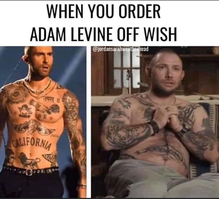 when you order adam levine off wish