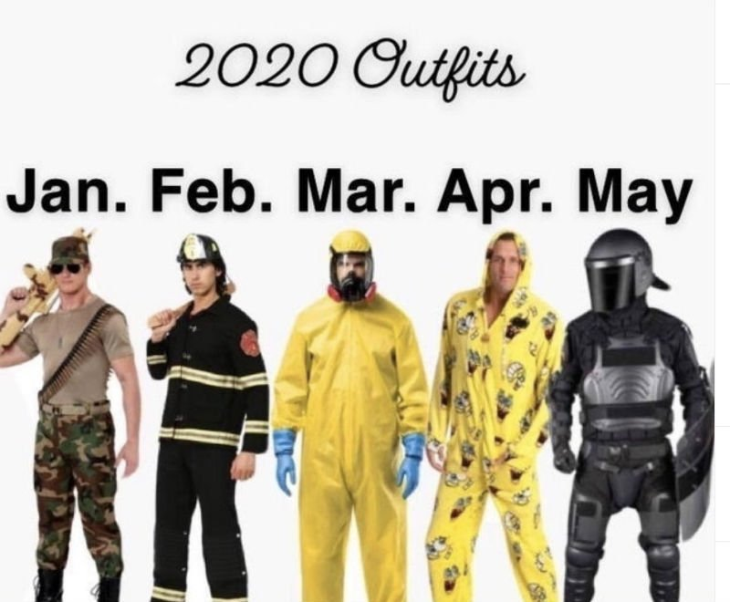 2020 outfits meme