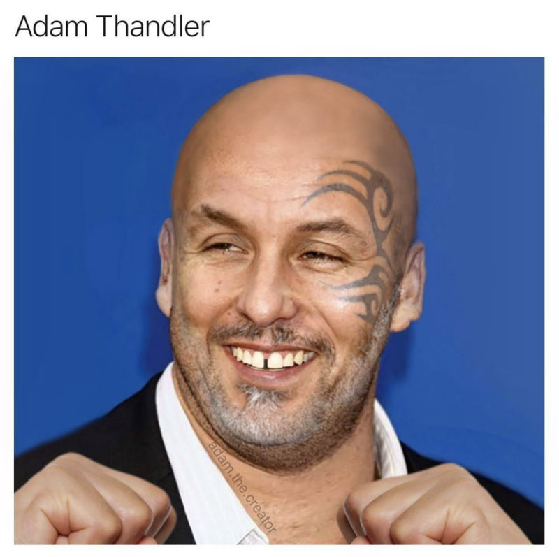 adam thandler meme