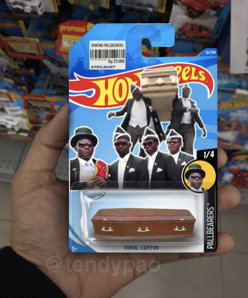 coffin dance meme hot wheels