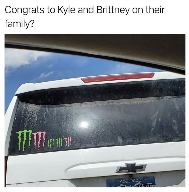 congrats to kyle and brittany