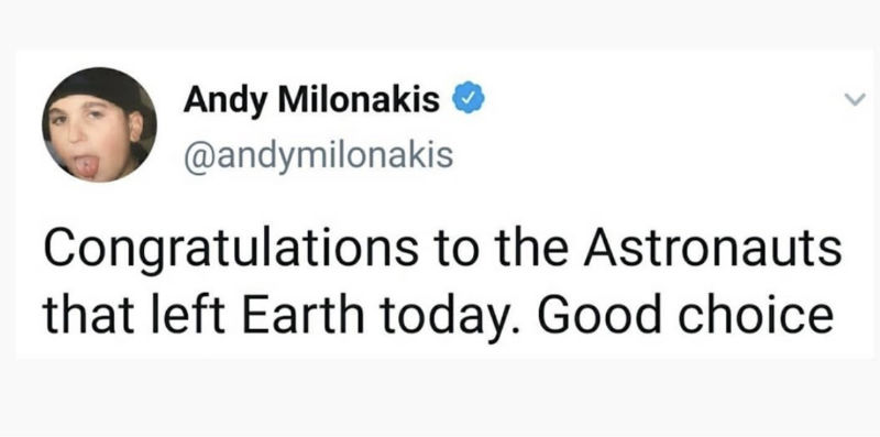 congratulations to the astronauts