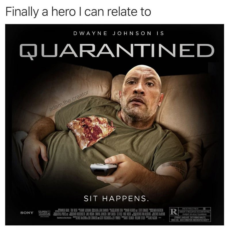 dwayne the rock johnson quarantined movie