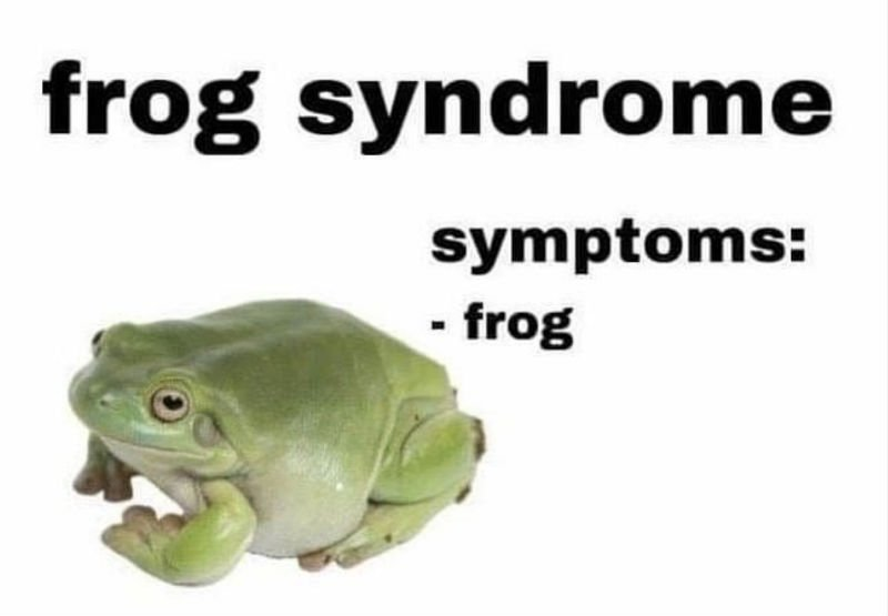 frog syndrome symptoms frog