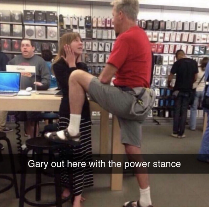 gary out here with the power stance meme
