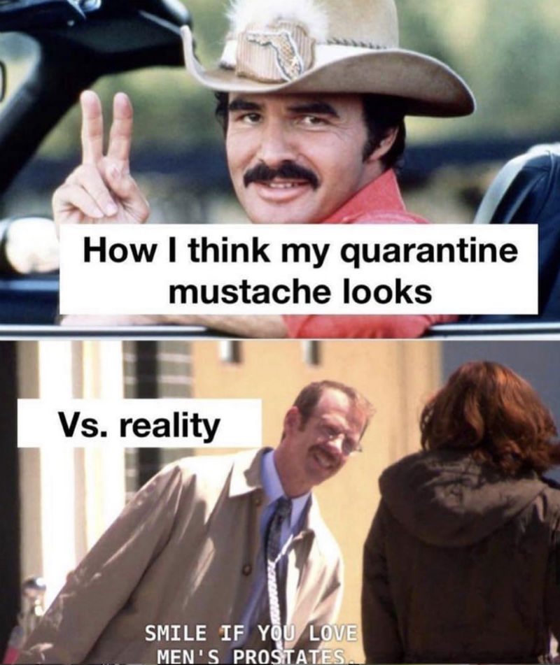 how i think my quarantine mustache looks