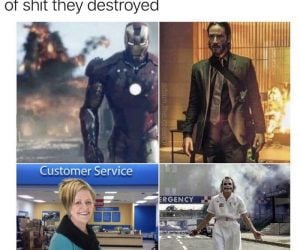It's Badass When People Stand In Front Of Shit They Destroyed – Karen Meme