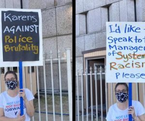 Karens Against Police Brutality Sign