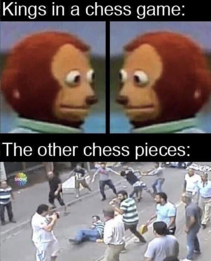 kings in a chess game meme