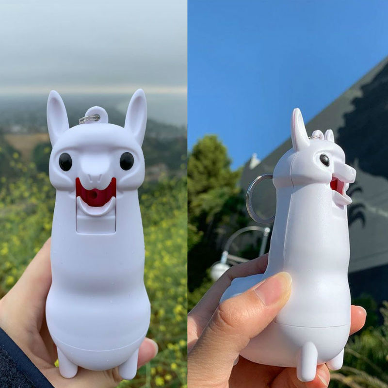 llama shaped pepper spray