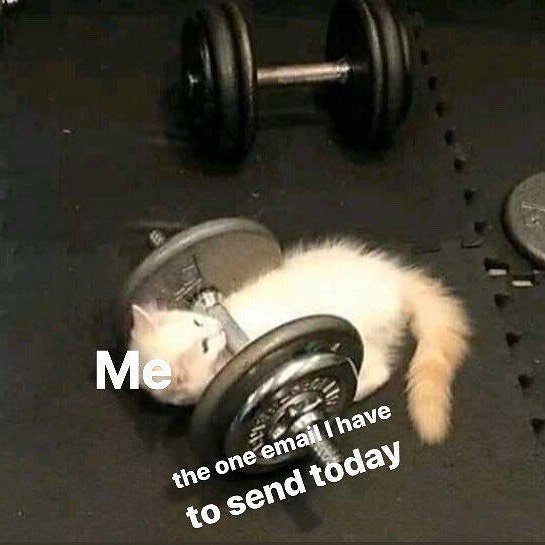 me the one email i have to send today
