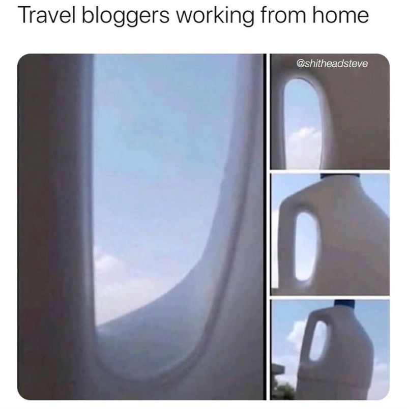 travel bloggers meme