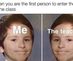 When You Are The First Person To Enter The Online Class – Meme