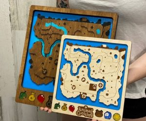 3D Animal Crossing Video Game Map – Treat yourself to a hand made unique item of art for your home!