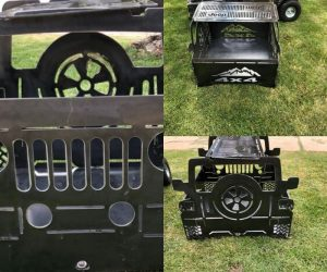 Jeep Fire Pit – These are collapsible fire pits great for camping, backyards, tailgating, and/or anywhere else you like!