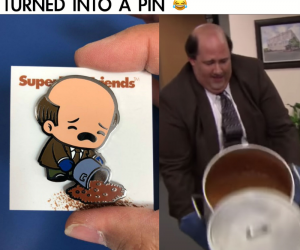 The Office Kevin's Chili Scene Pin – Kevin's famous chili scene was turned into a pin!