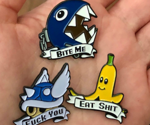 Offensive Mario Kart Pins –Pins that perfectly express your true feelings while playingMario Kart!