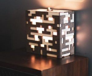 Minecraft Ore Lamp – No need to break out the pickaxe for this beautiful lamp!