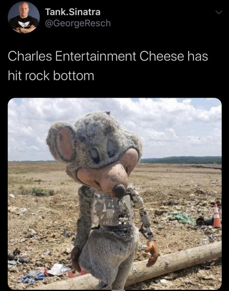 charles entertainment cheese has hit rock bottom meme