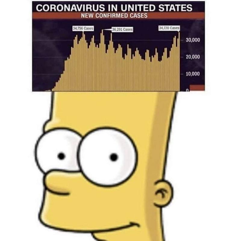 coronavirus graph bart simpson