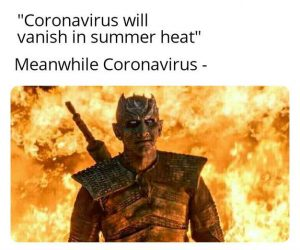 Coronavirus Will Vanish In Summer Heat – Meme